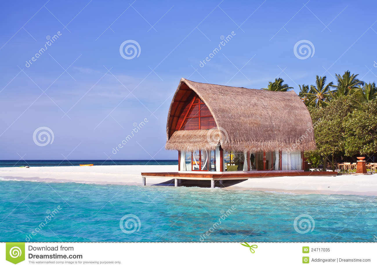 Landscape photo of beach house stock image image 24717035 - House on beach pix ...