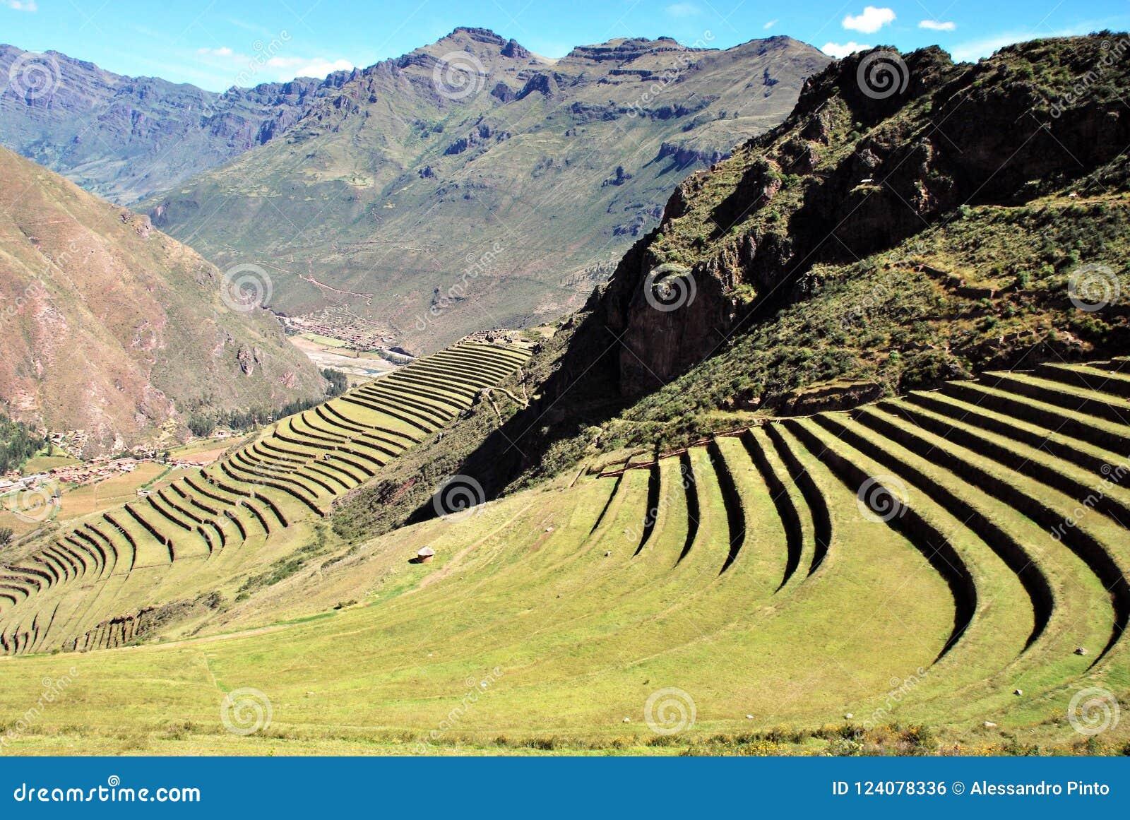 Landscape in Pisac in the Urubamba valley