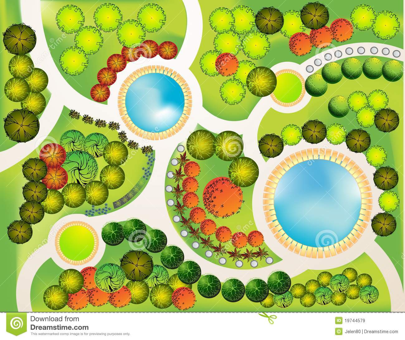 Landscape Plan Stock Vector Image Of Outdoor