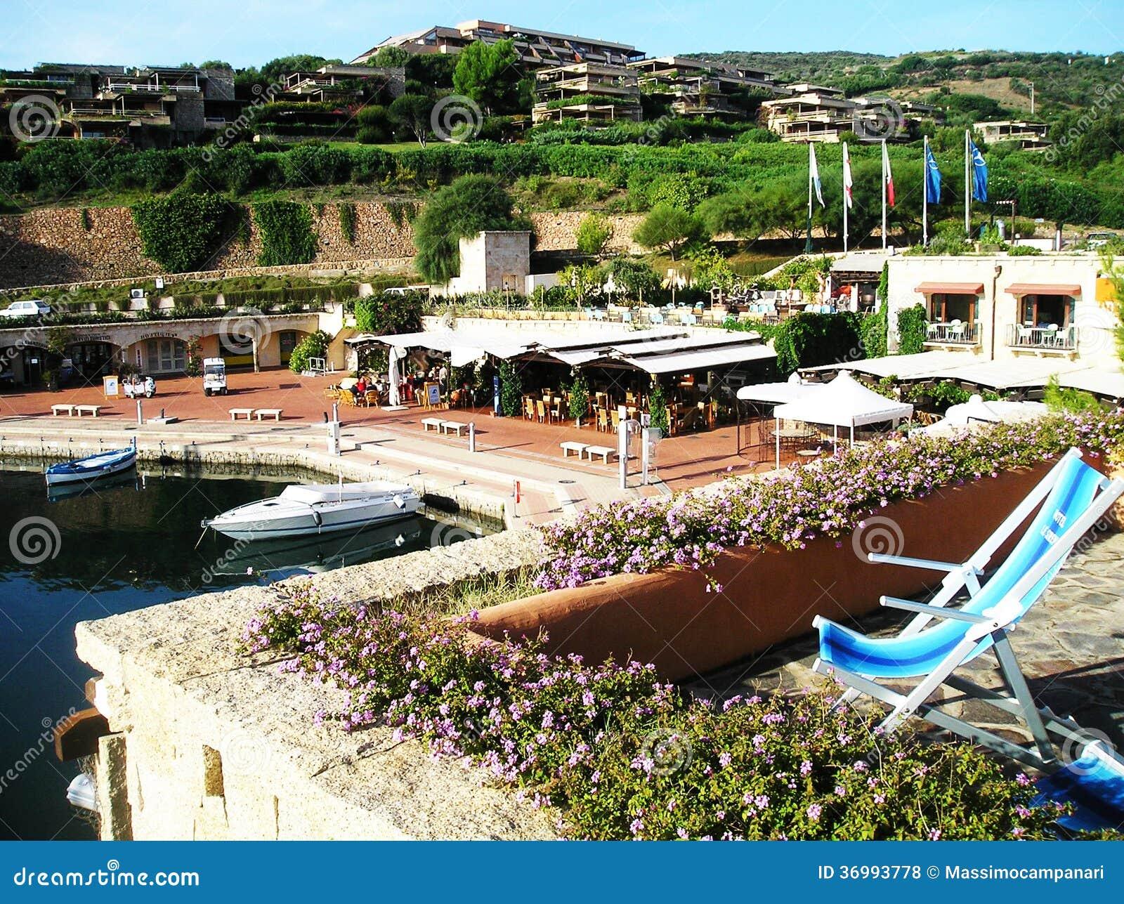Marina Di Portisco Italy  City new picture : Portisco, Sardinia, Italy Partial view of Marina Di Portisco.