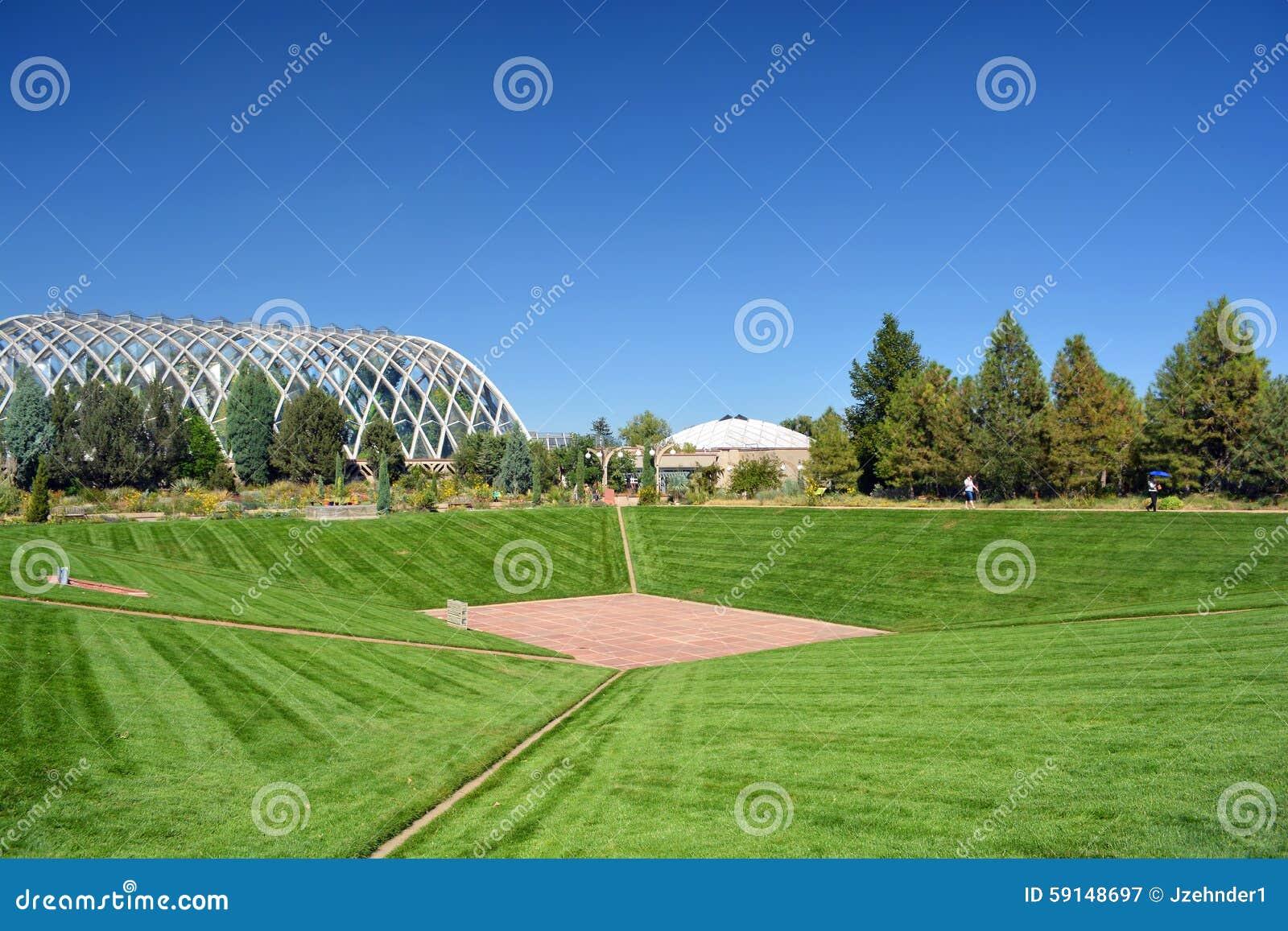 Landscape and Retro Futuristic Greenhouse