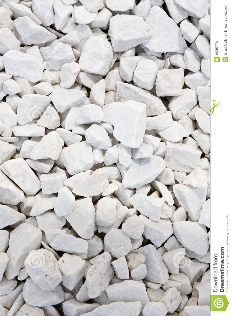 White Landscaping Rock