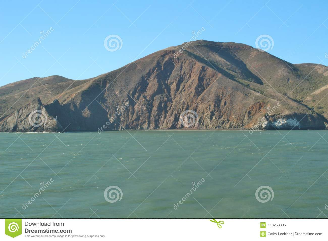 Landscape scene of mountains and ocean along the San Francisco Bay Area - Landscape Scene Of Mountains And Ocean Along The San Francisco Bay