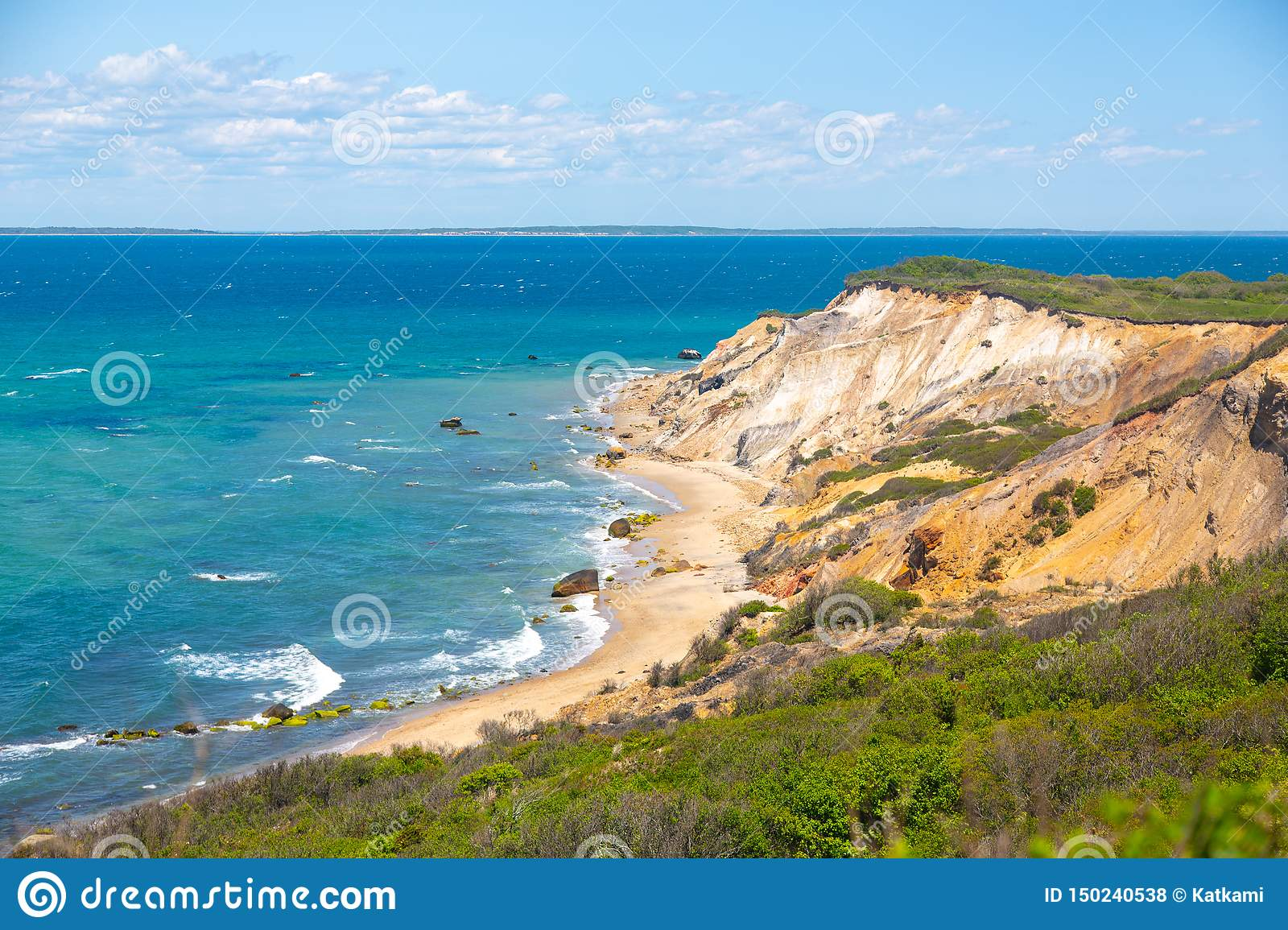 Aquinnah Cliffs in Martha`s Vineyard, MA