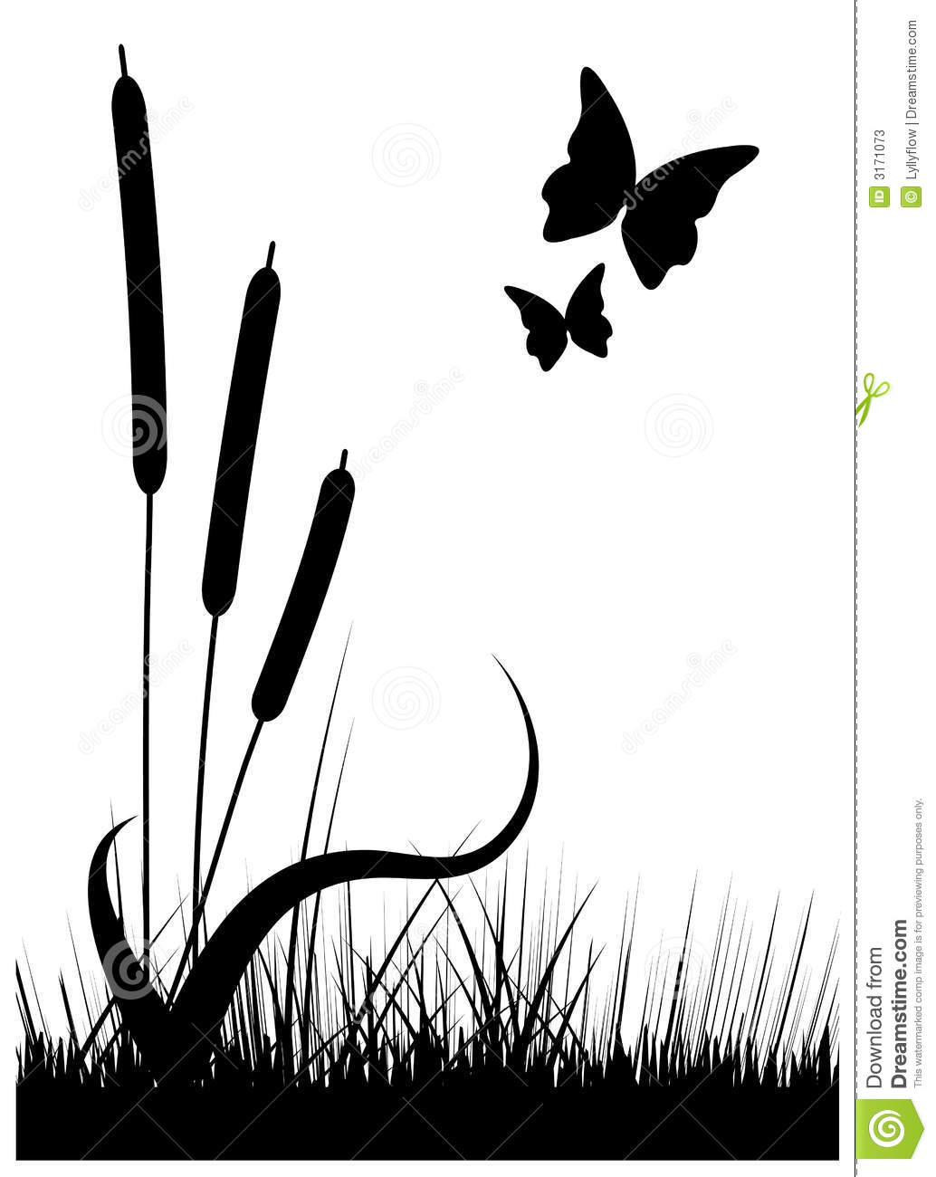 abstract plants clip art
