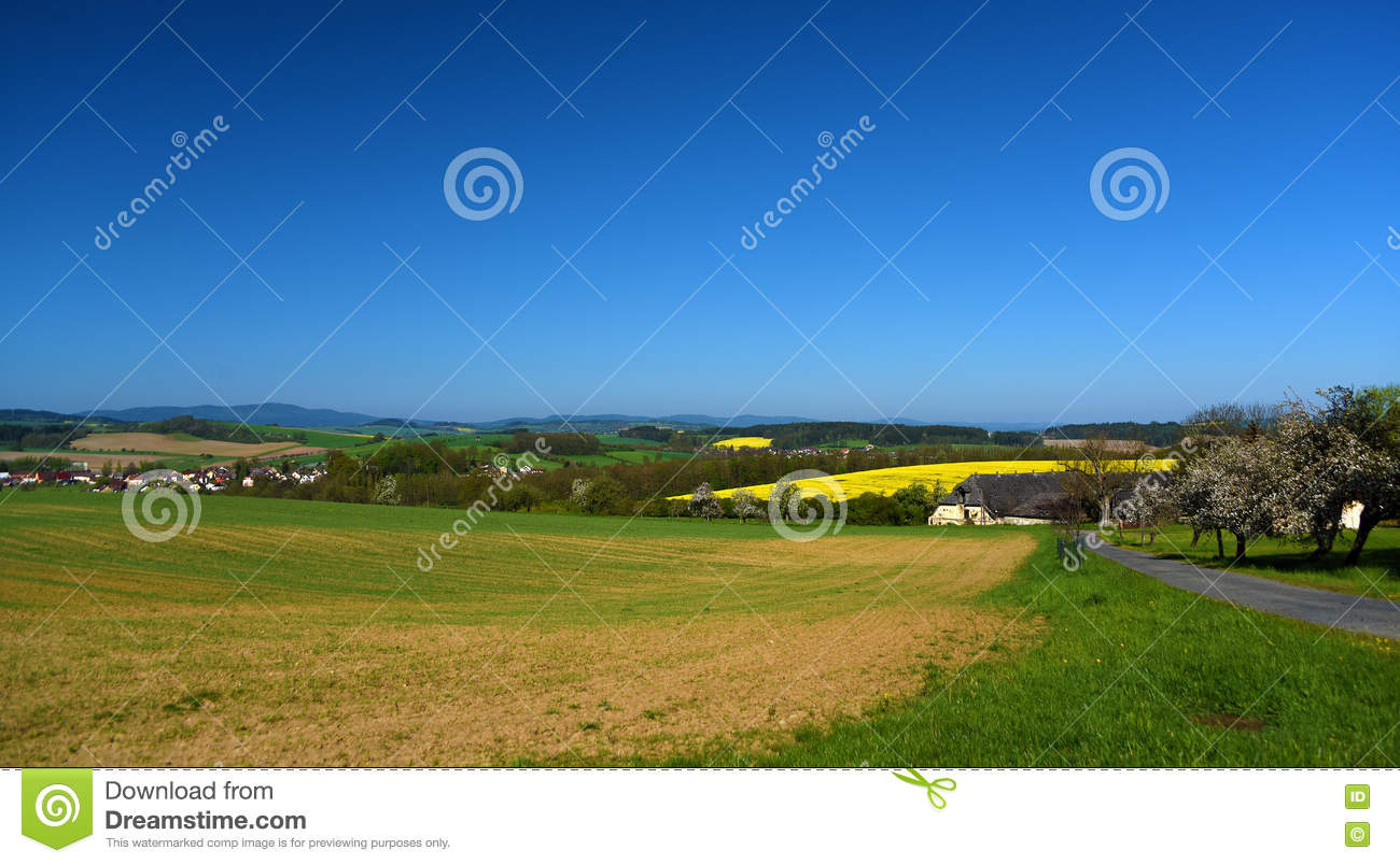 Landscape in spring south of bohemia stock photo image for Nearby landscapers
