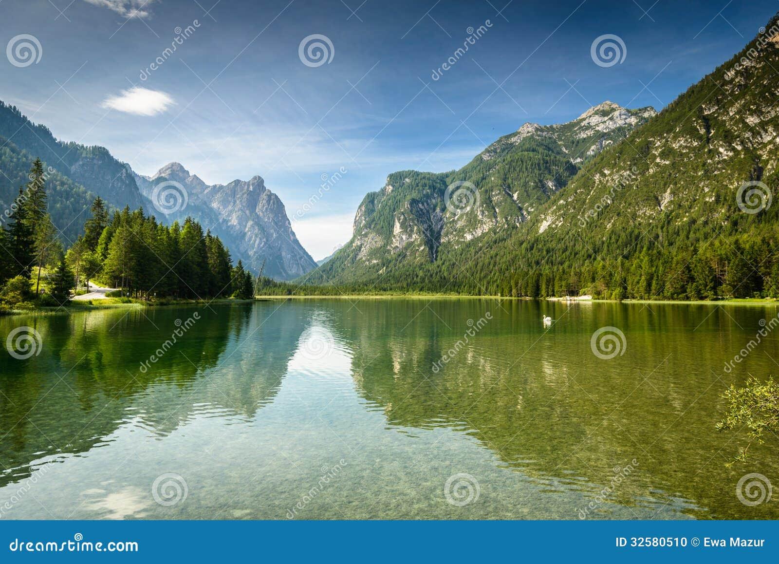 Dobbiaco Italy  City new picture : ... Lago di Dobbiaco,Italy. Dolomites are on UNESCO World Heritage List