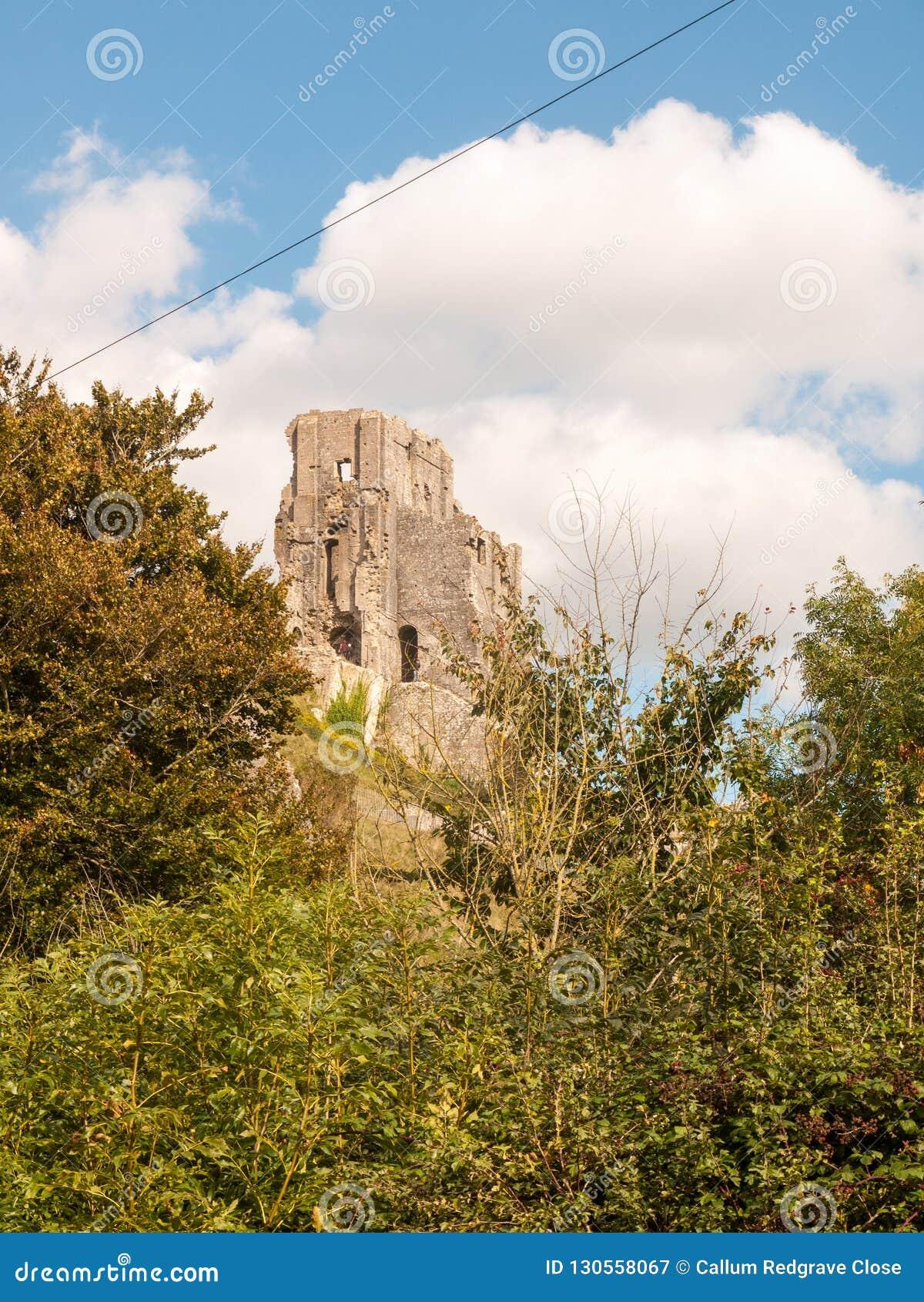 Corfe Castle Stock Image Cartoondealer Com 81905977