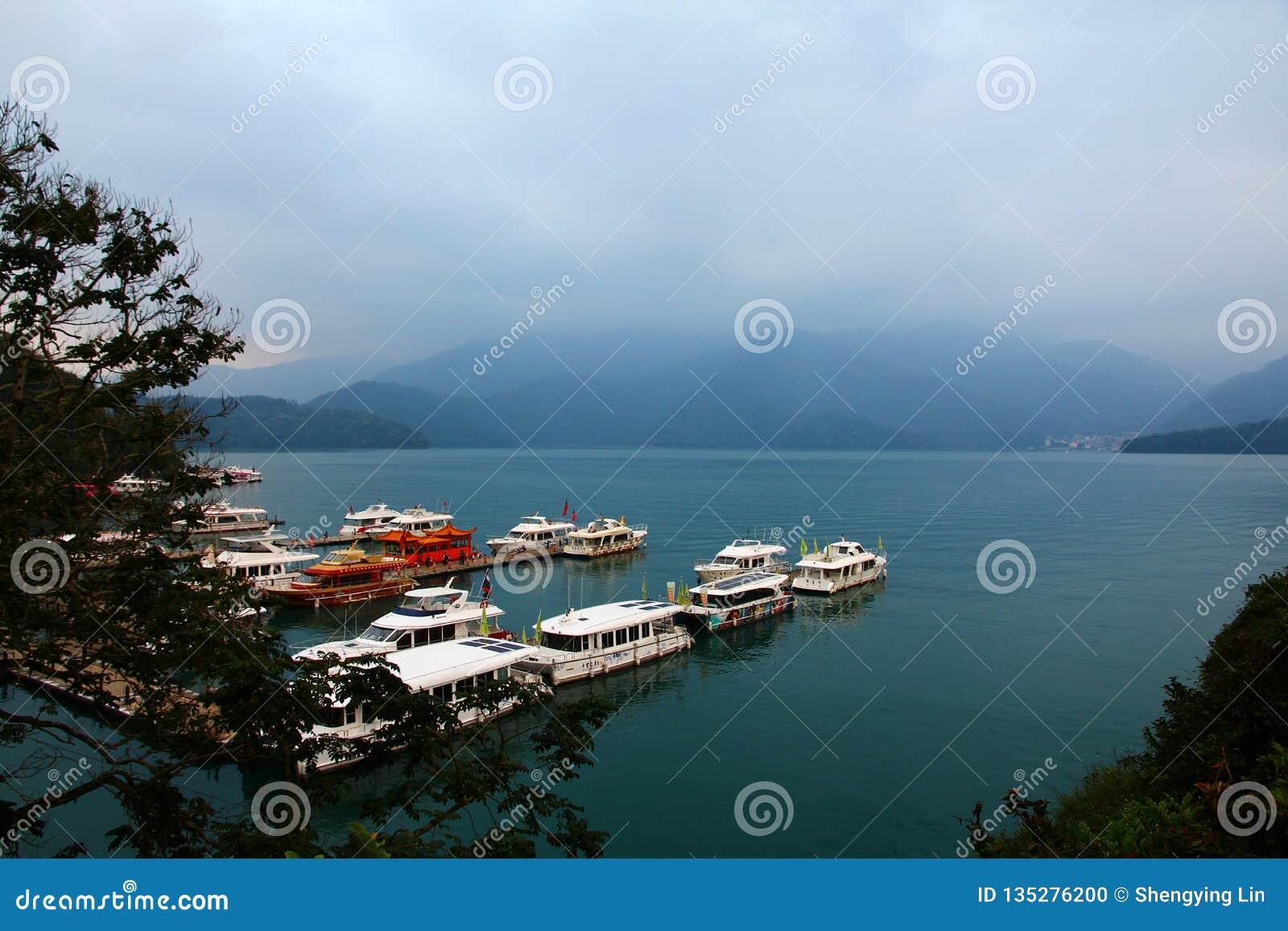 Landscape of Sun-Moon Lake in Taiwan