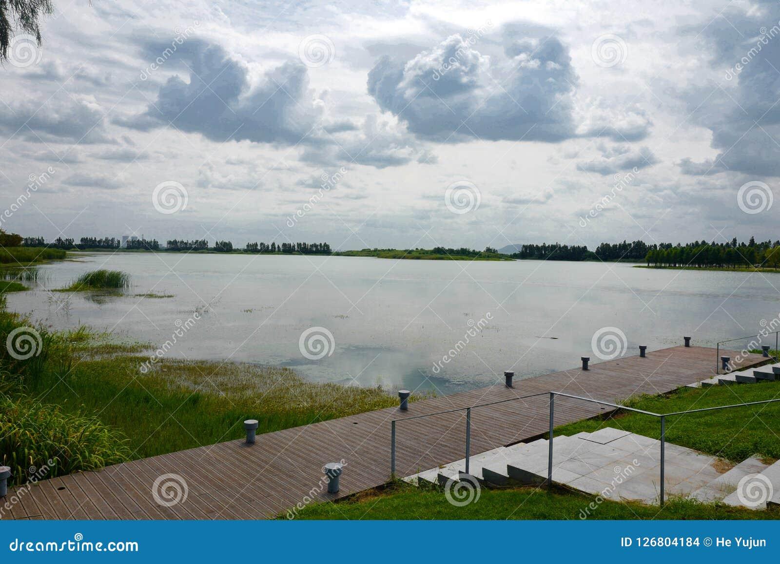 The landscape of Taihu lake