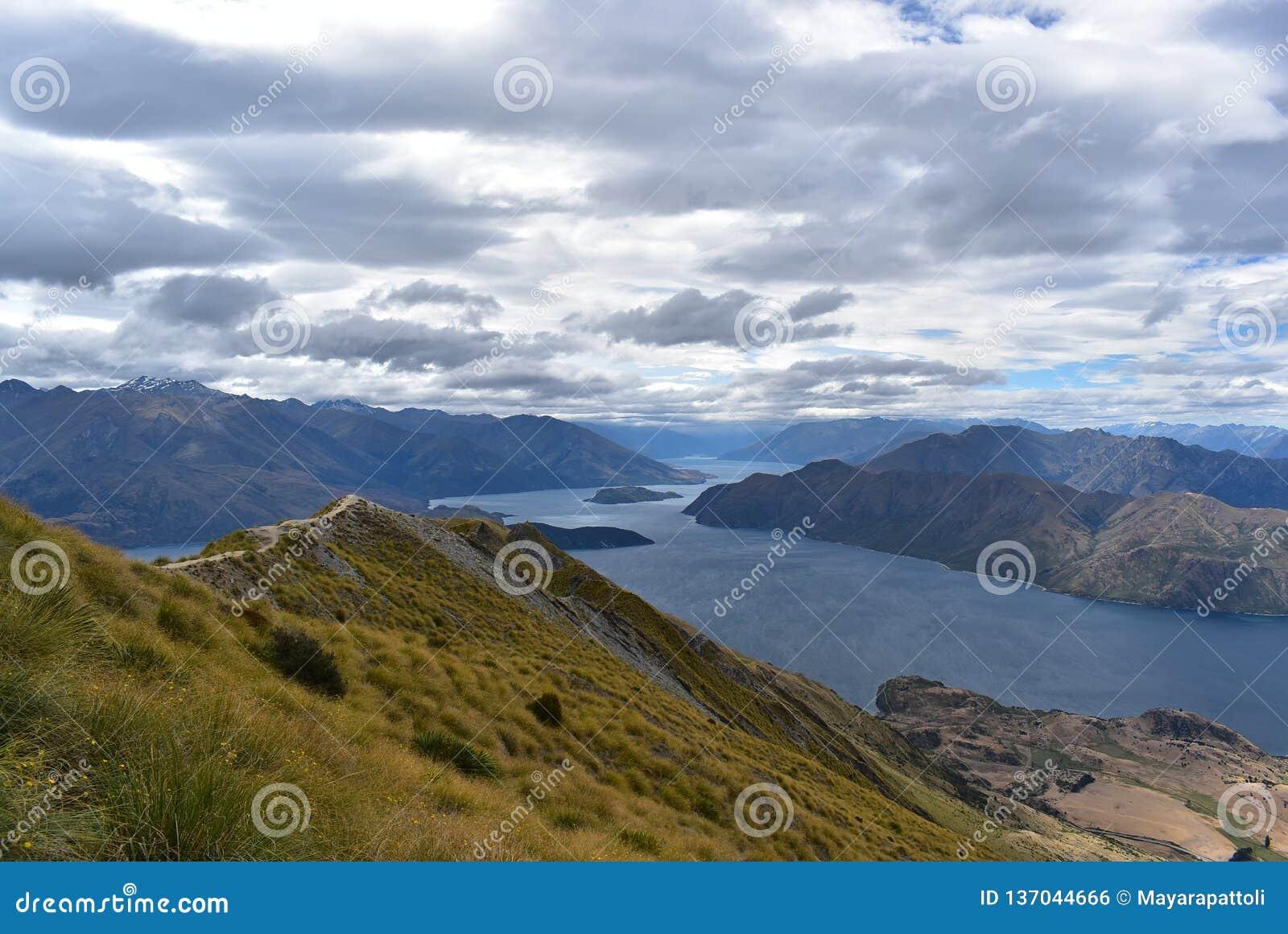 Landscape of Roys Peak, South Island of New Zealand.