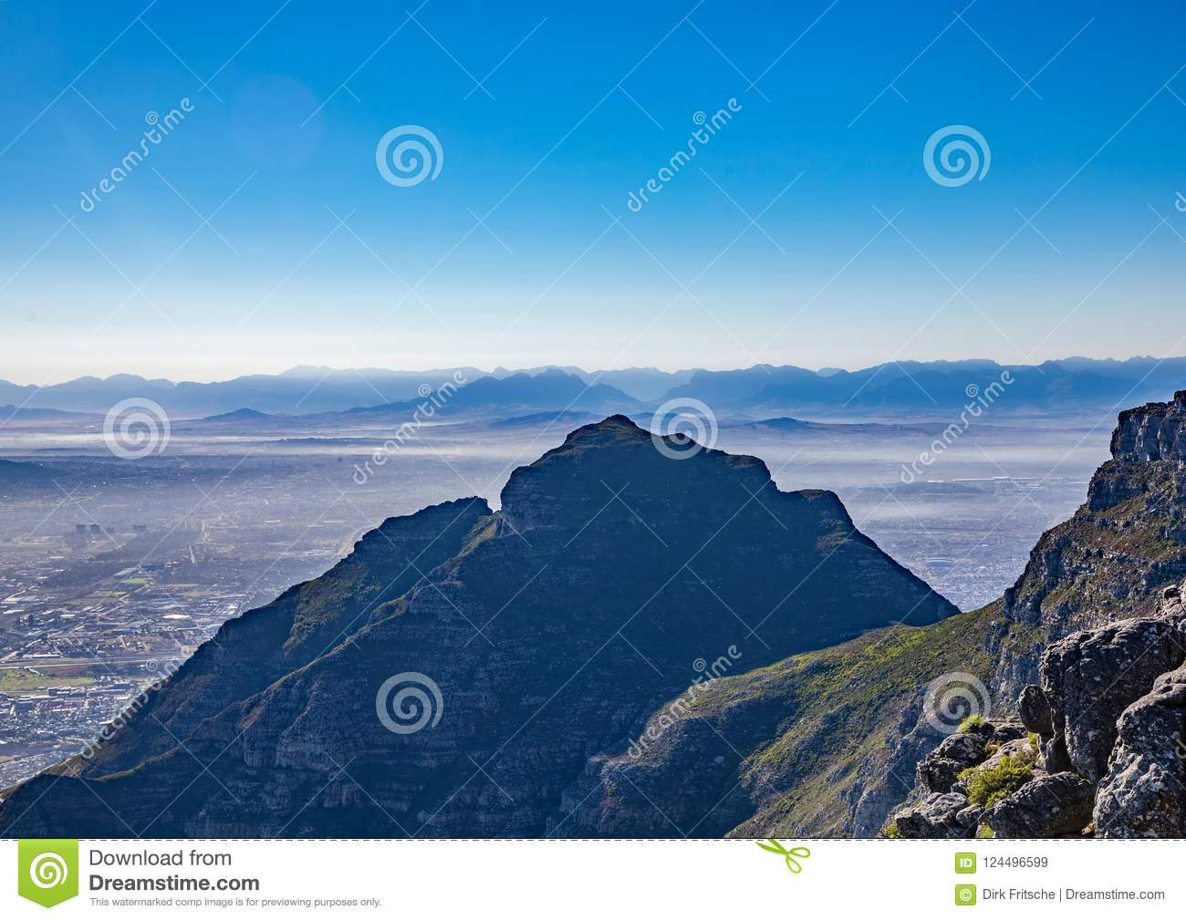 Landscape On Top Of The Table Mountain Nature Reserve In Cape Town - Table top mountain south africa