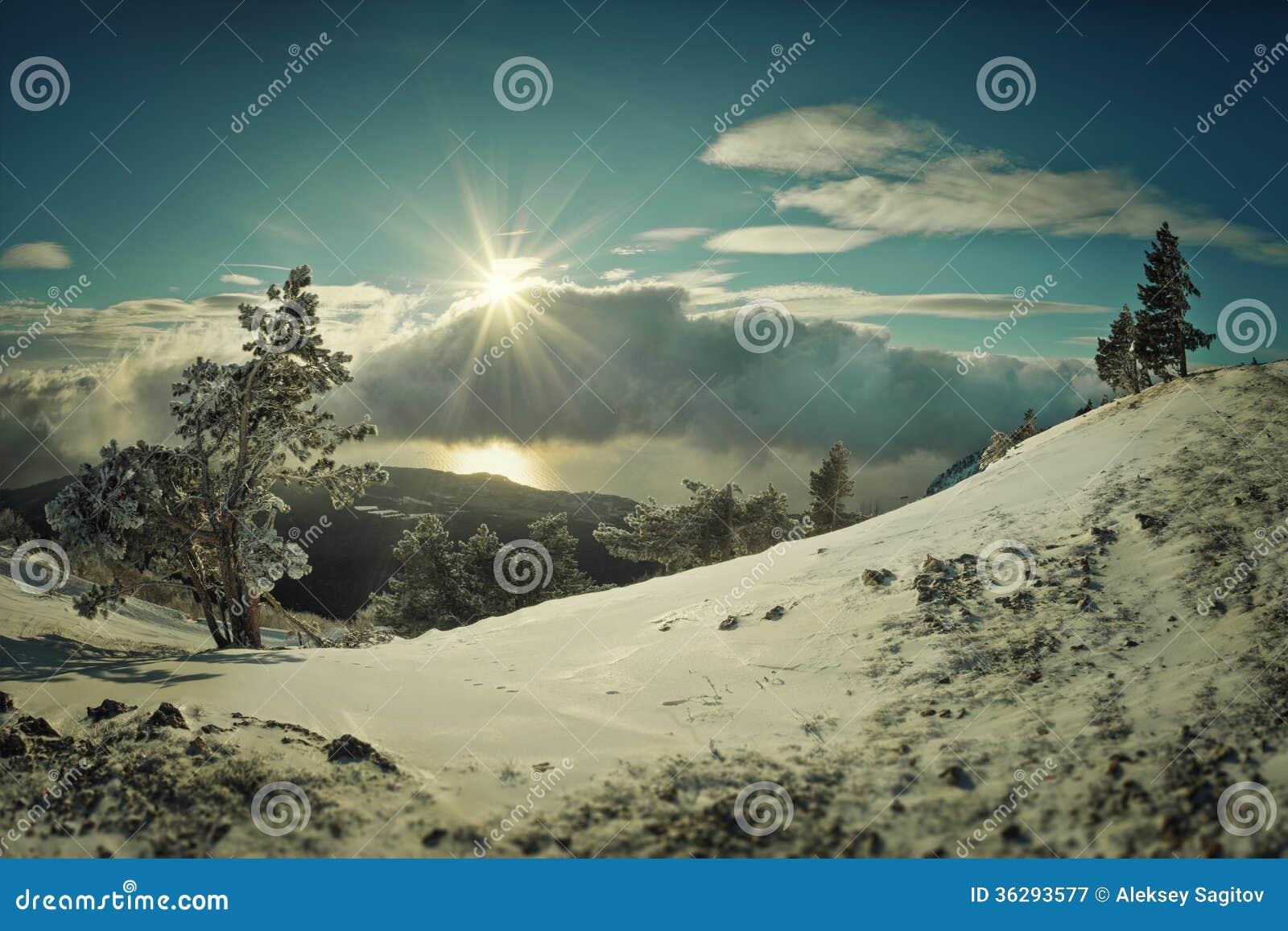landscape sky clouds snow - photo #10