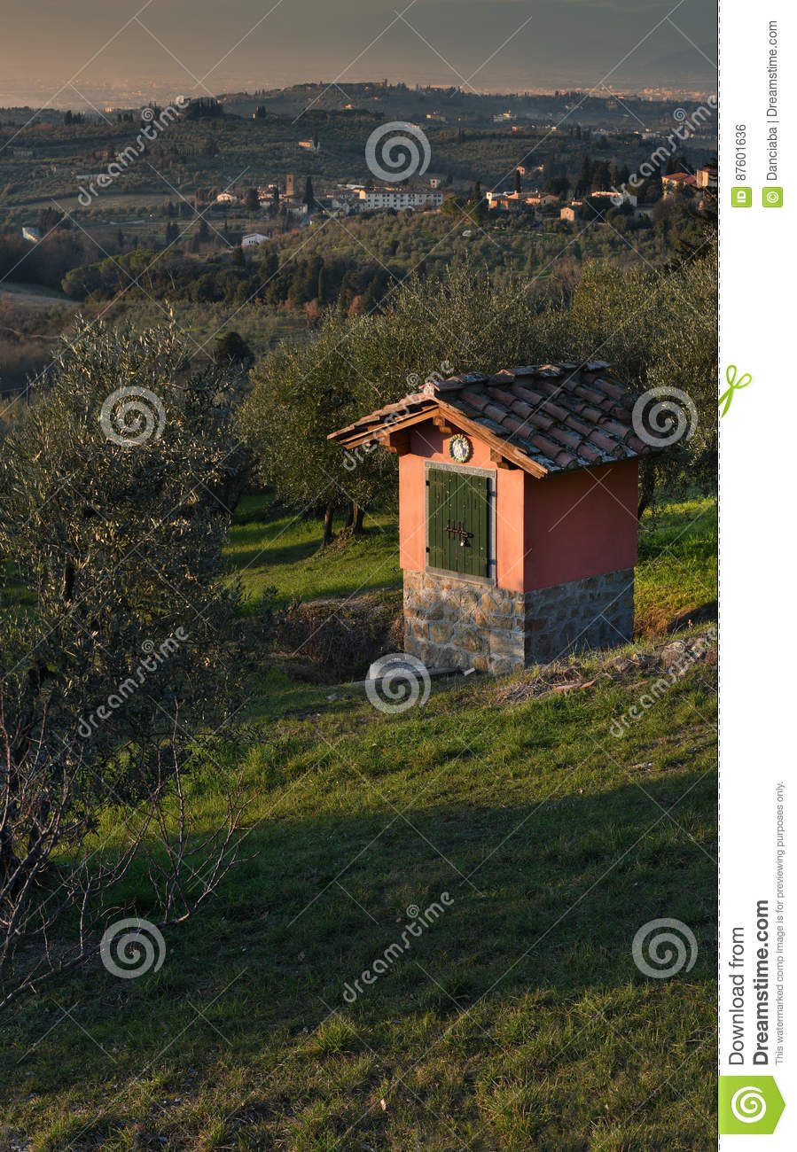 Landscape in the Tuscan Countryside in Chianti near Florence