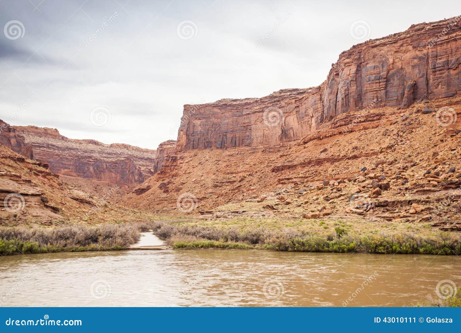 Landscape of utah colorado river and red rocks stock for Landscaping rocks tooele utah
