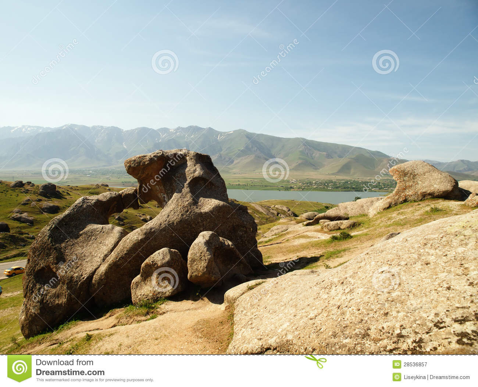 Landscape in Uzbekistan.