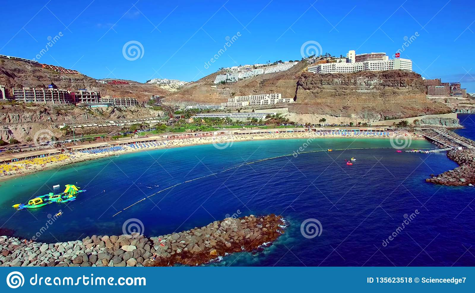 Landscape and view of beautiful Gran Canaria at Canary Islands, Spain