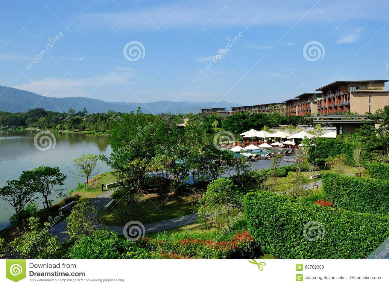 Landscape View With Blue Sky Stock Photo