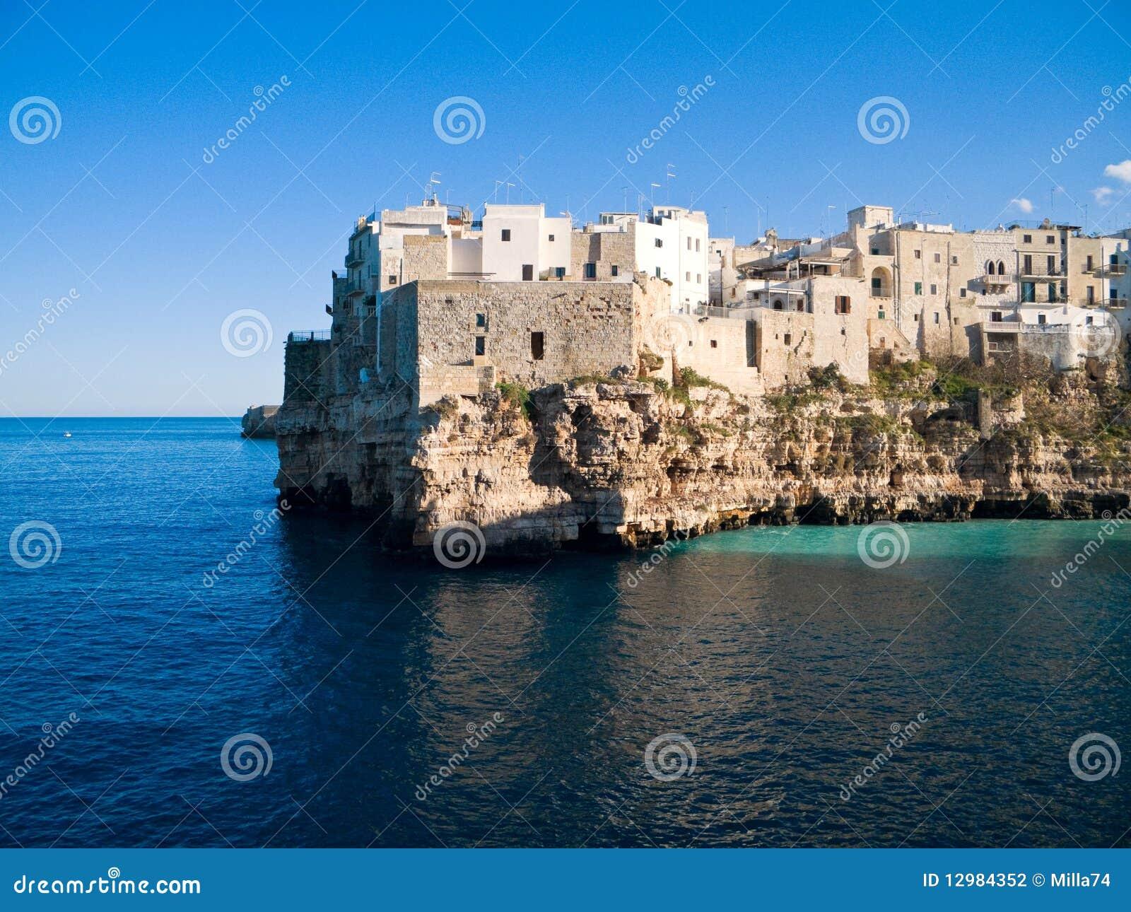 Landscape view of Polignano. Apulia.