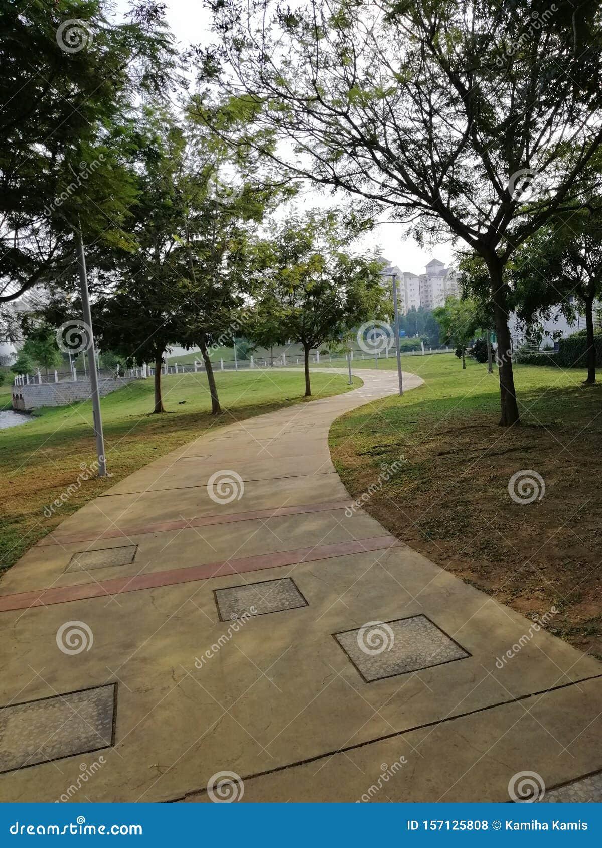 Landscape view of walking pat at Presint 8, Putrajaya