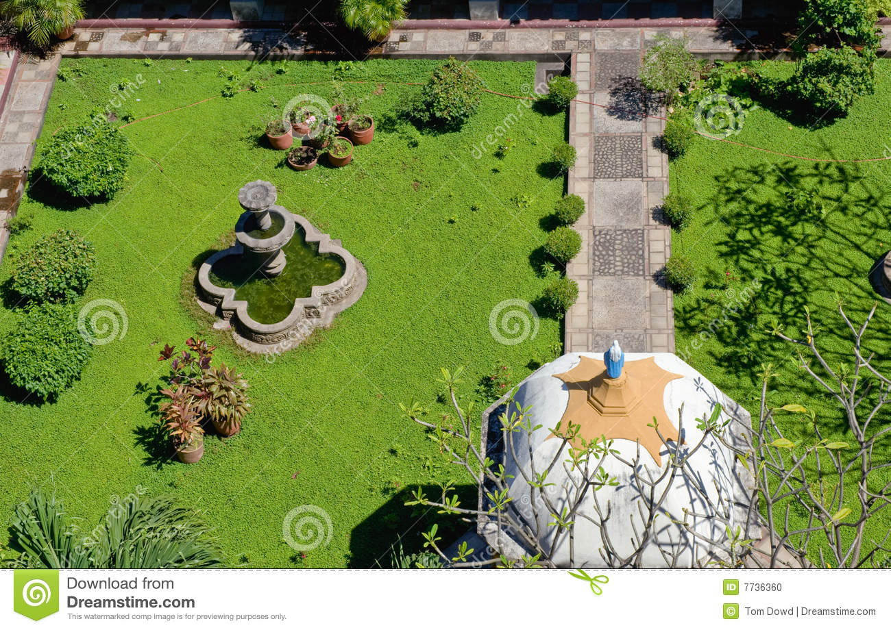 Landscaped Garden Aerial View Stock Photo Image 7736360