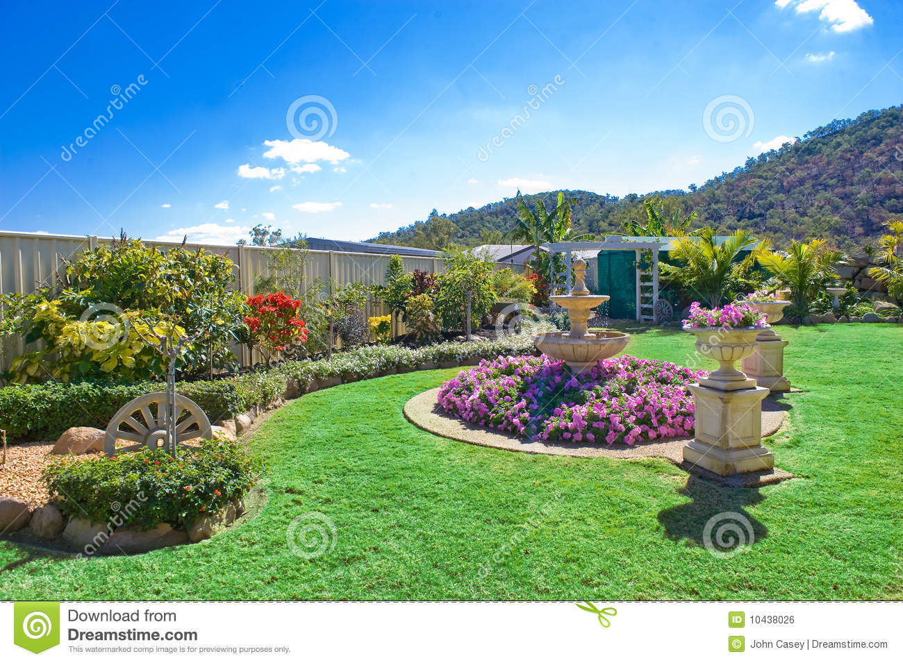 Landscaped gardens stock photo image of plants plant for Garden pictures