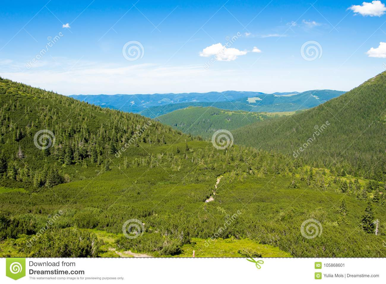 Landscapes Of The Mountains And Mountain Natural Green