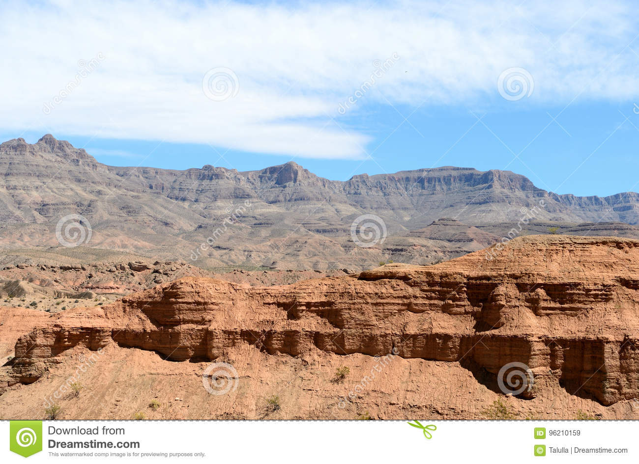 Landscapes on Pierce Ferry Road, Meadview. Grand Canyon National park, Arizona