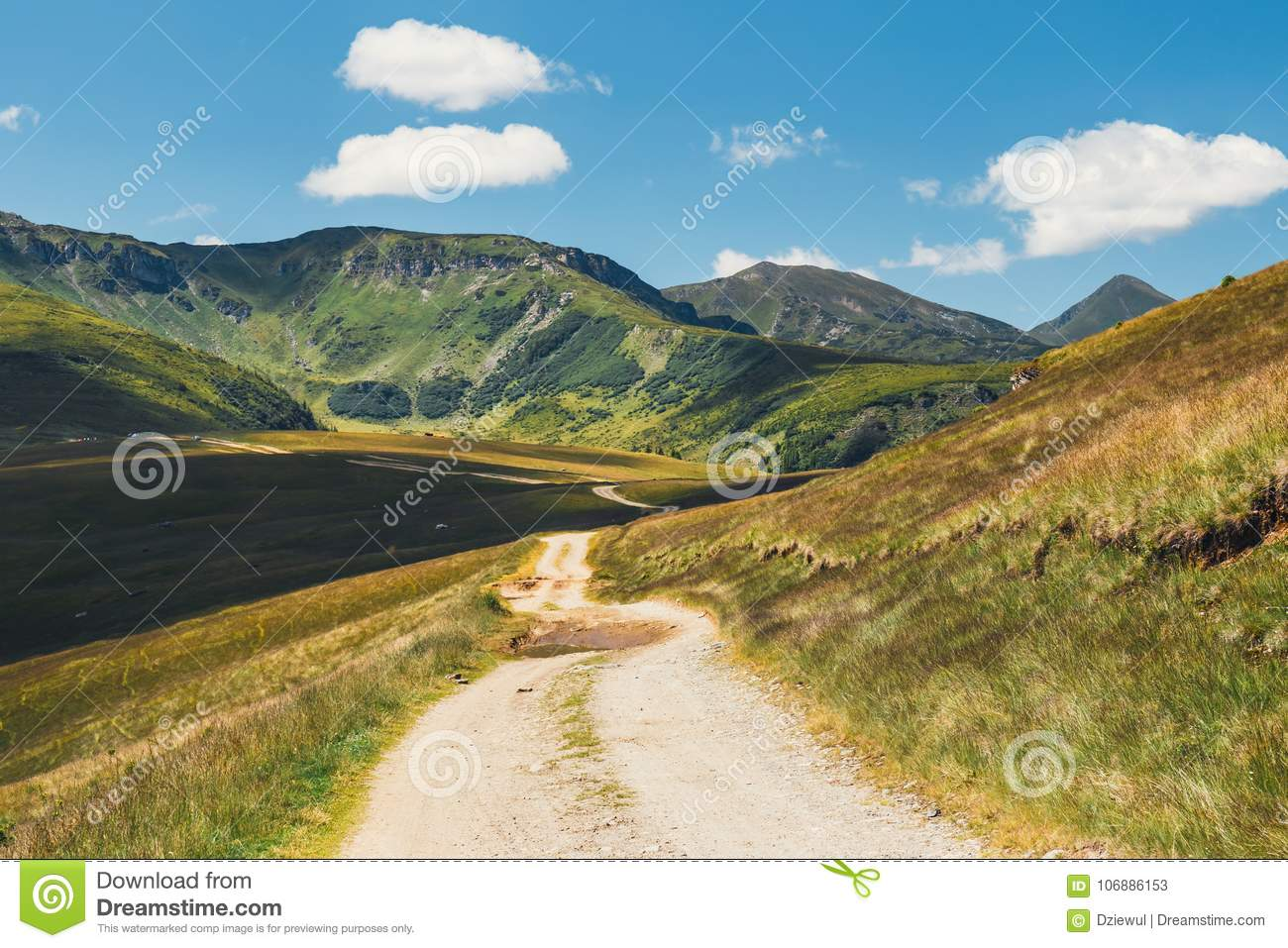 Landscapes of Rodna Mountains in eastern carpathians, romania
