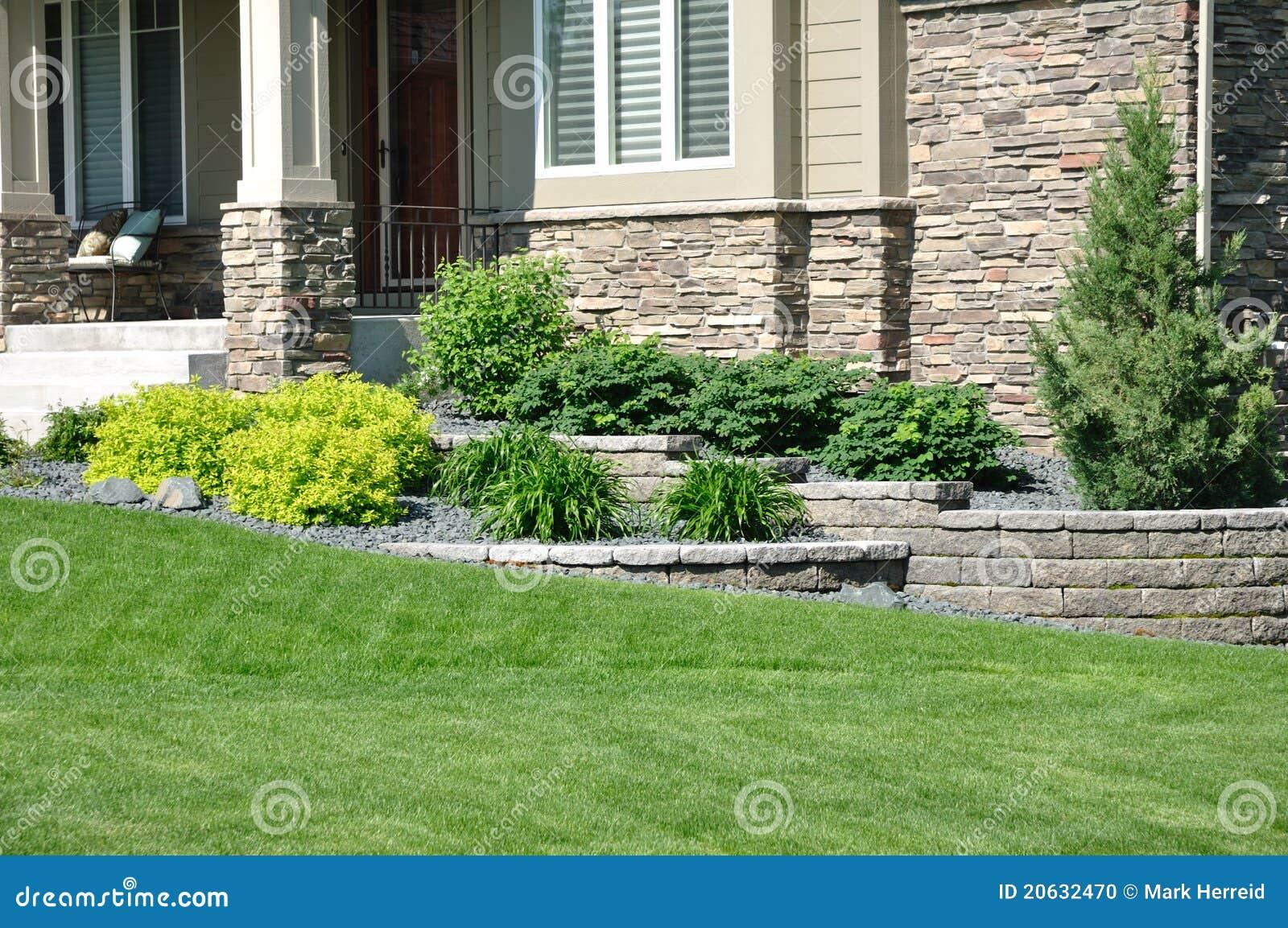 Landscaping сохраняя стена