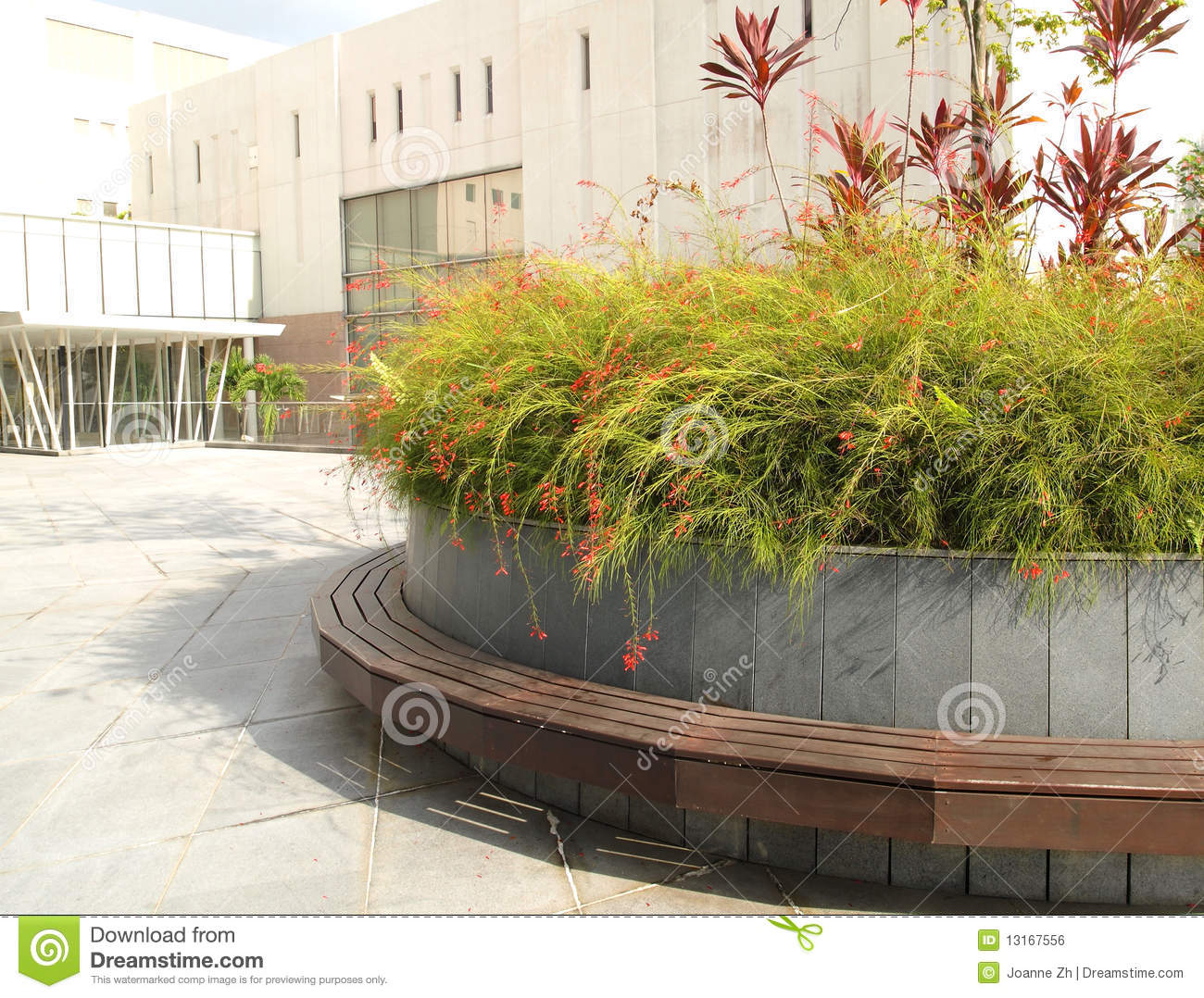 Landscaping City Offices Area Royalty Free Stock Image