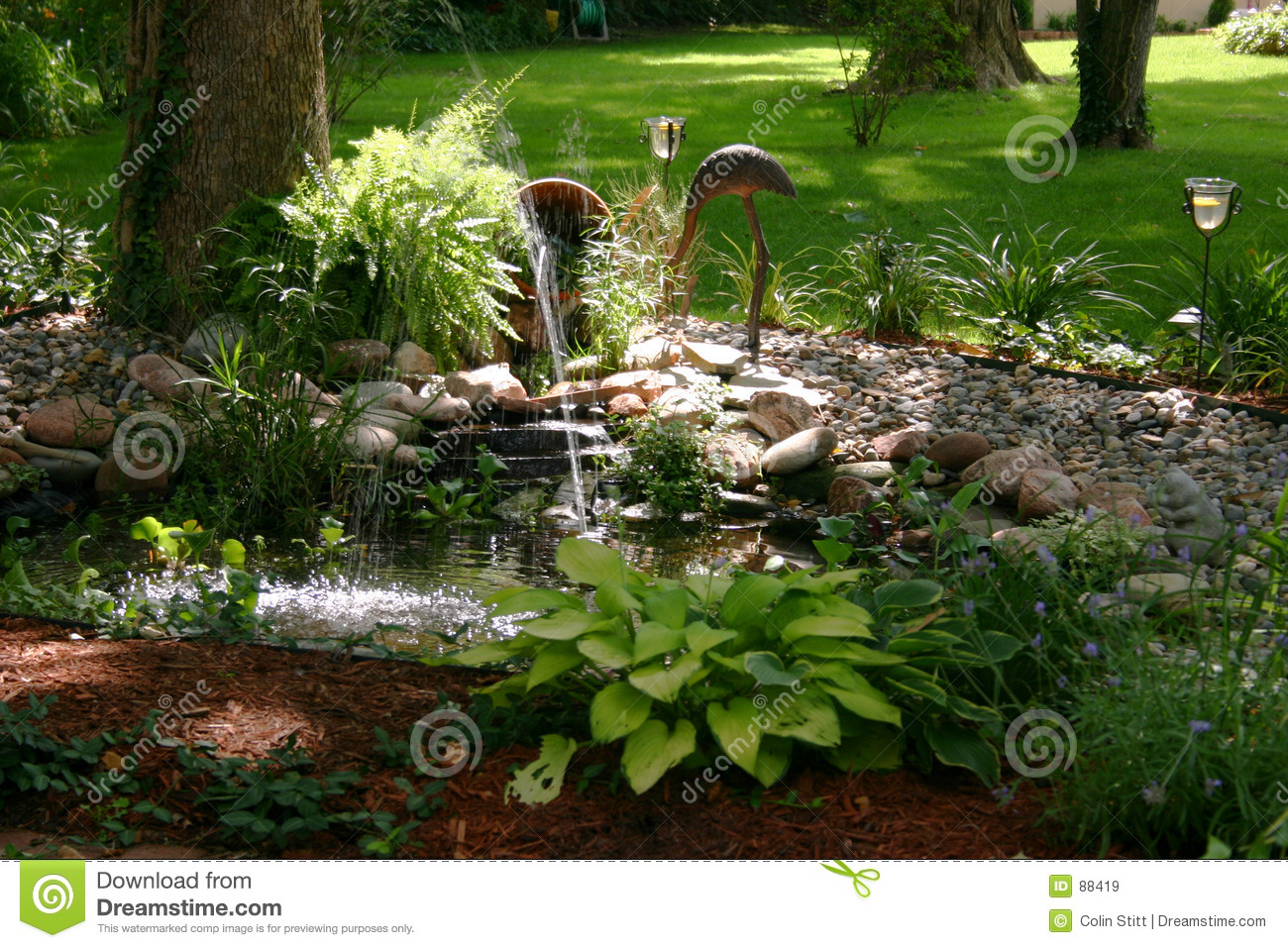 Landscaping Design Stock Image. Image Of Peaceful