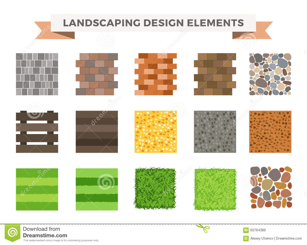 Landscaping icons vector illustration royalty free stock for Landscape design icons