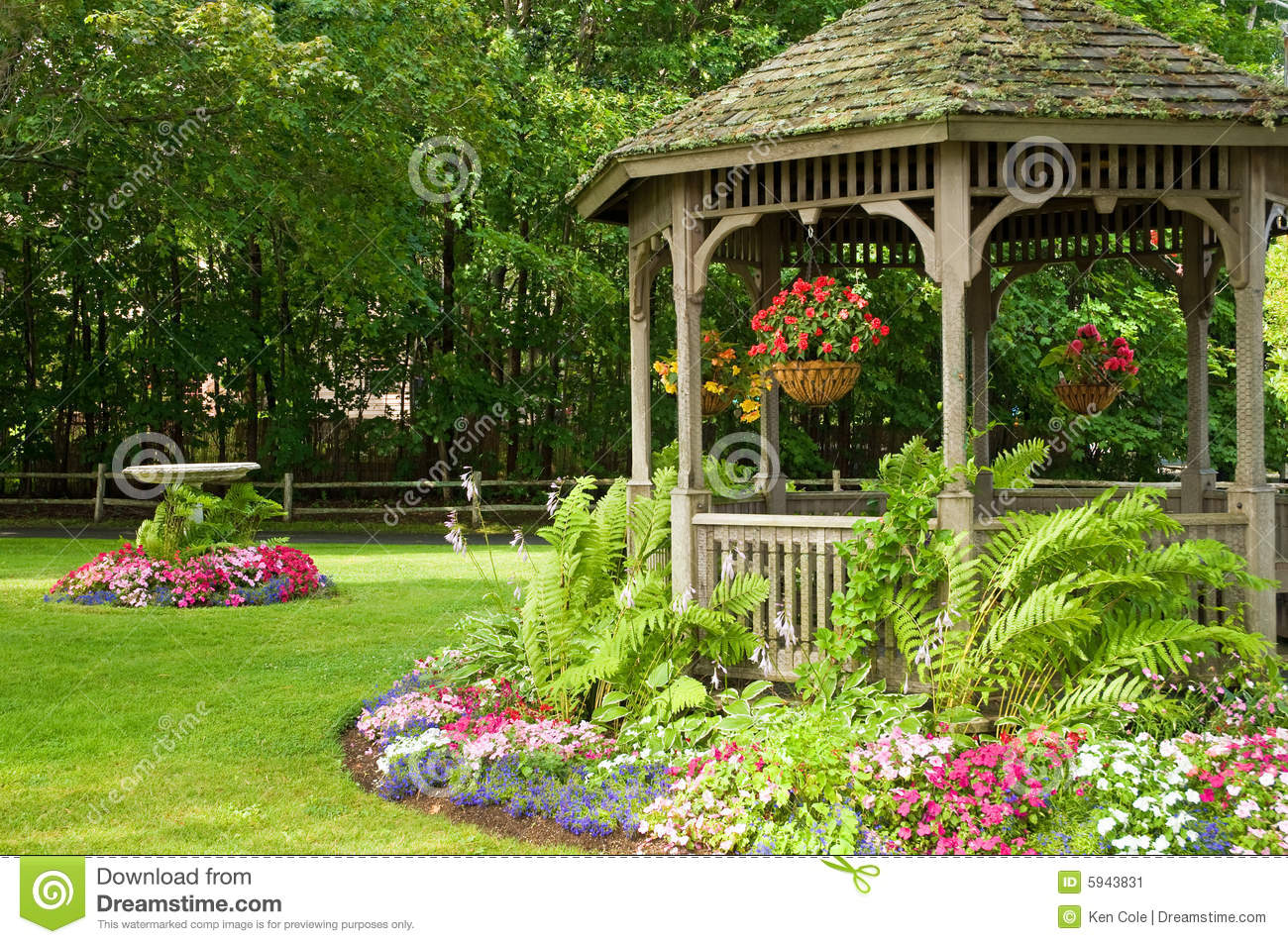 Landscaping gazebo in park