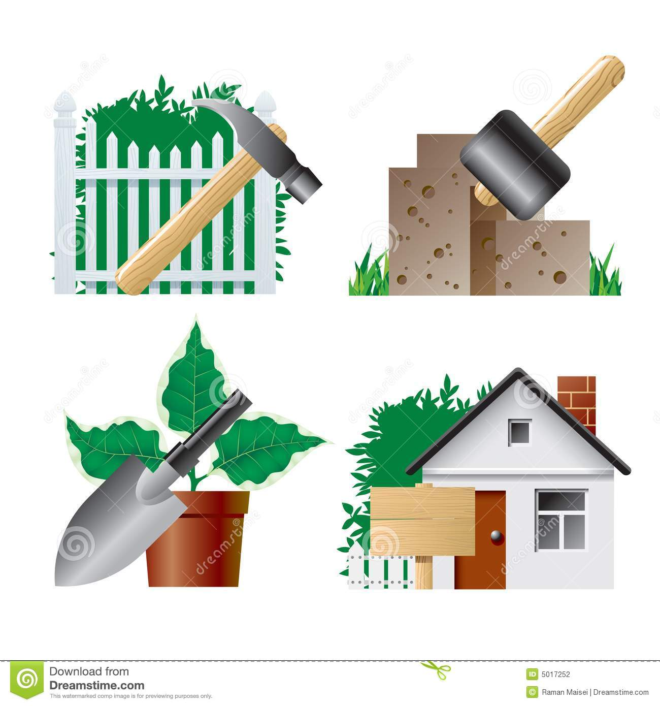 Landscaping icons stock photography image 5017252 for Garden maintenance tools