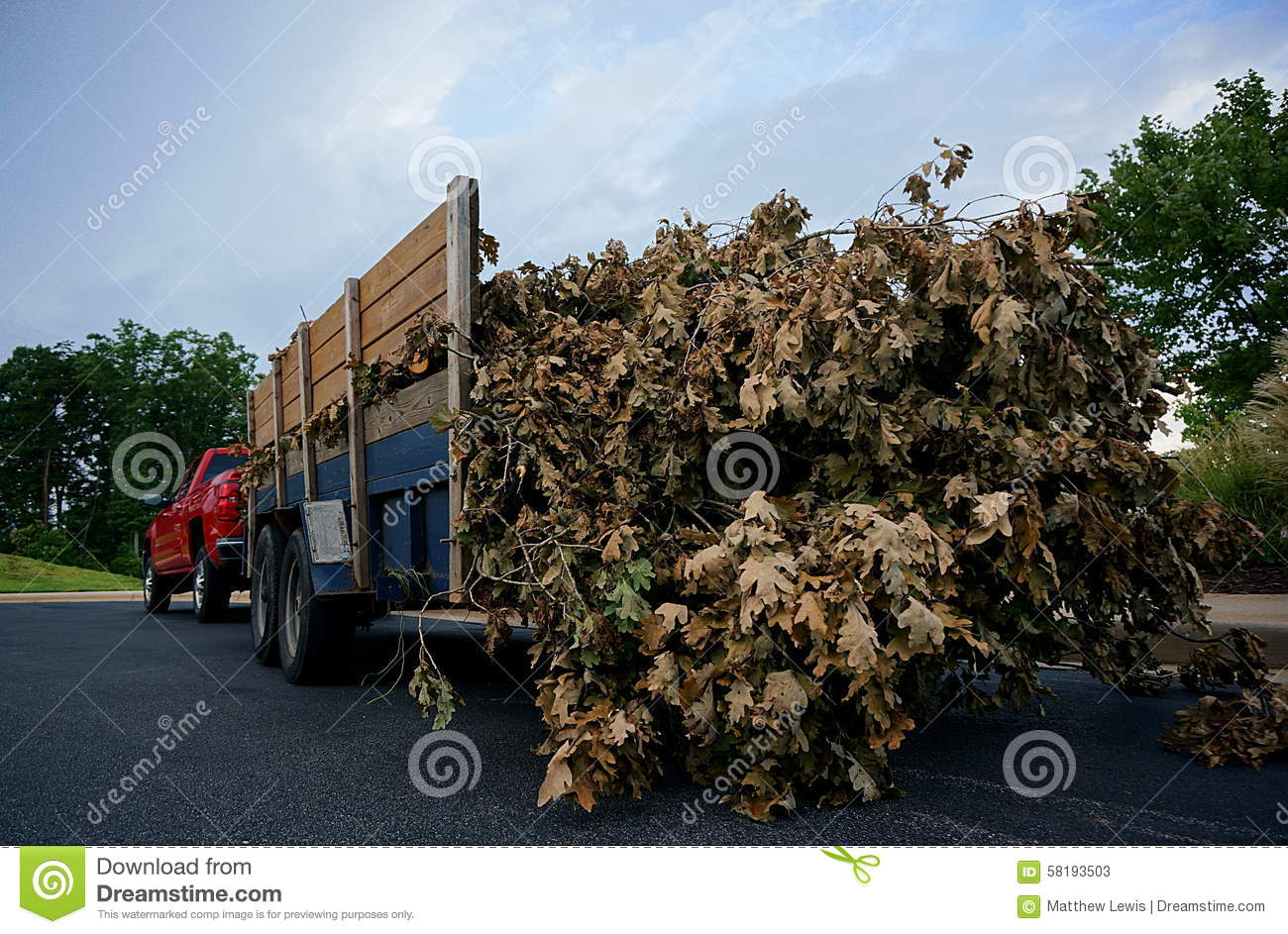 Landscaping trailer stock photo image 58193503 for Local landscapers
