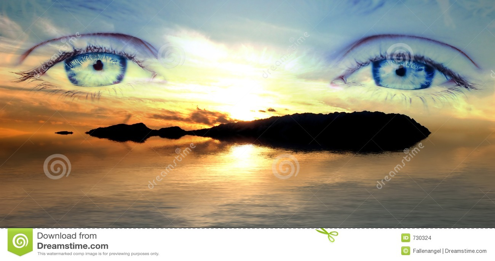 Landscepe de œil bleu