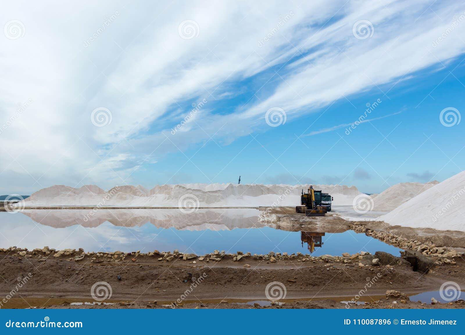 Landschaft des Salzbergwerks Sanlucar de Barrameda