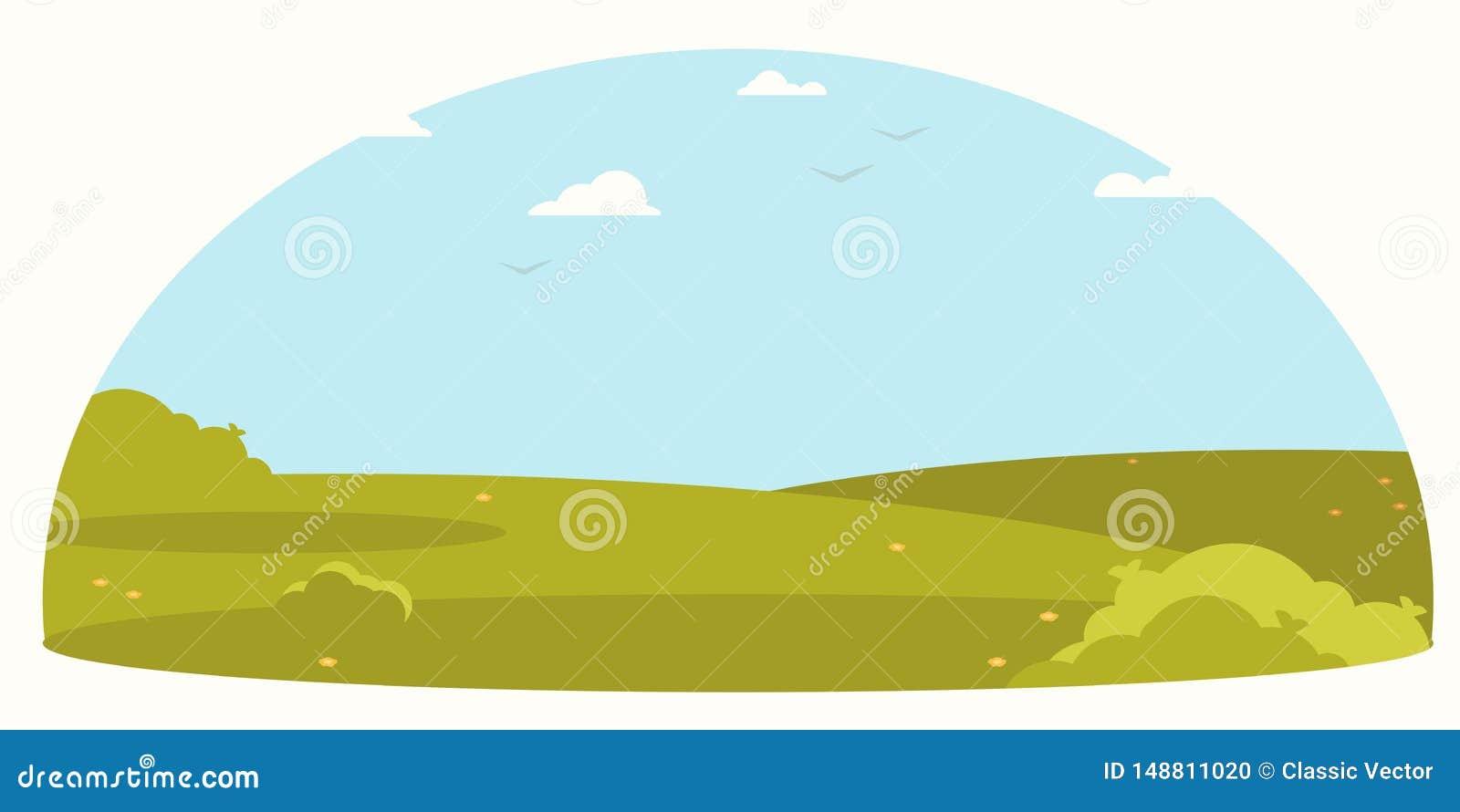 Landschaft, flacher Entwurf der Landschaft Es kann f?r Leistung der Planungsarbeit notwendig sein