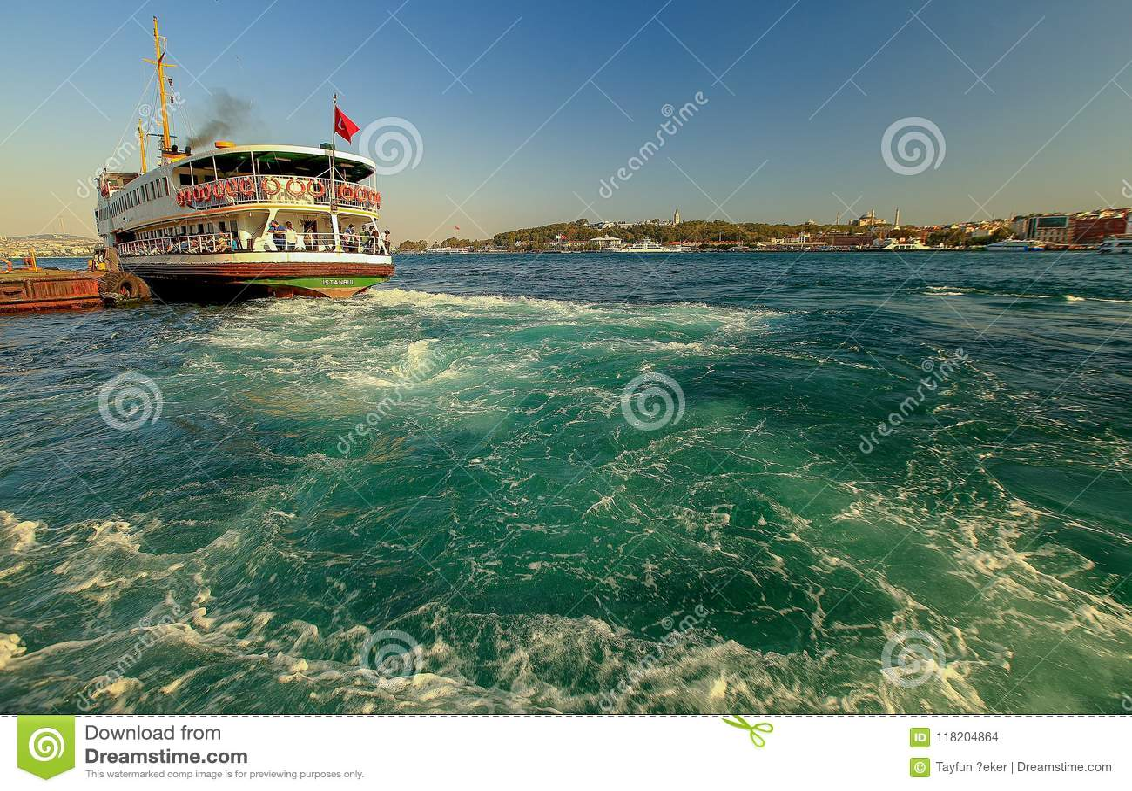 Landschaft-Karakoy-Pier von Istanbul