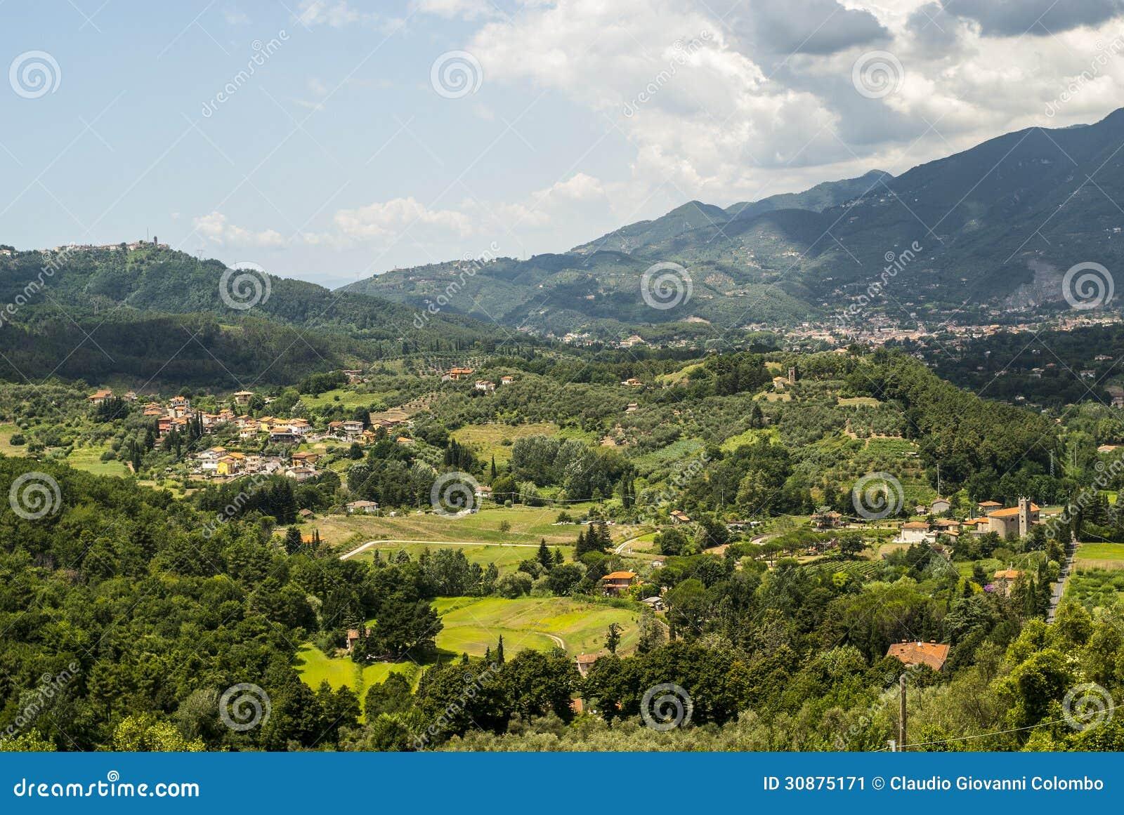 Landschaft nahe Camaiore (Toskana)