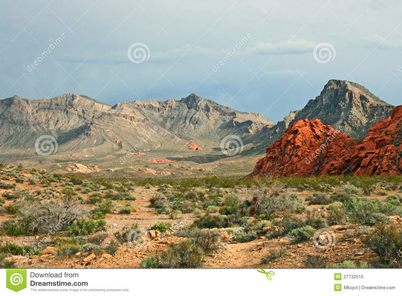 Landschaft in Nevada vor Sturm