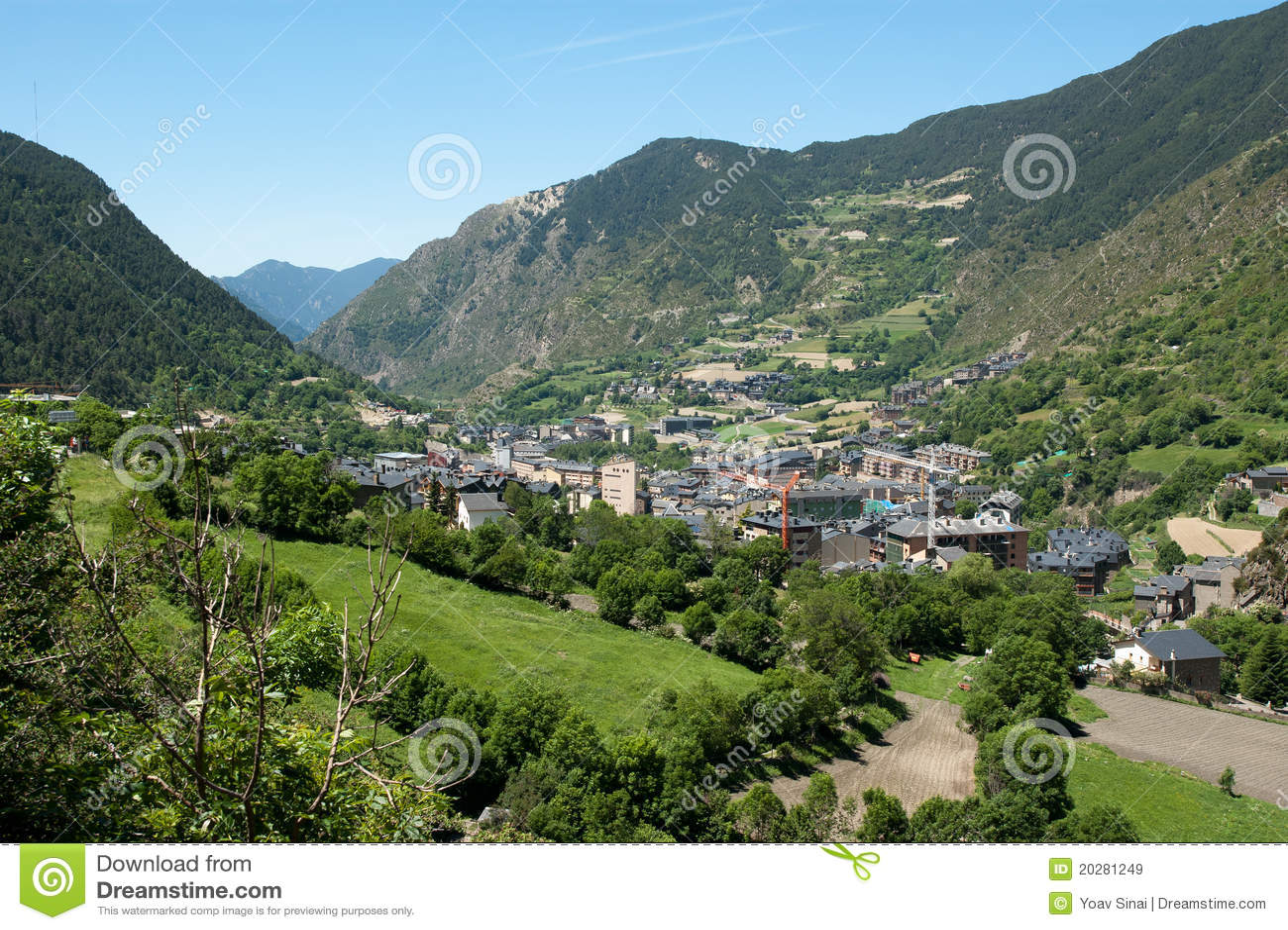 Landschaft von Andorra Pyrenees