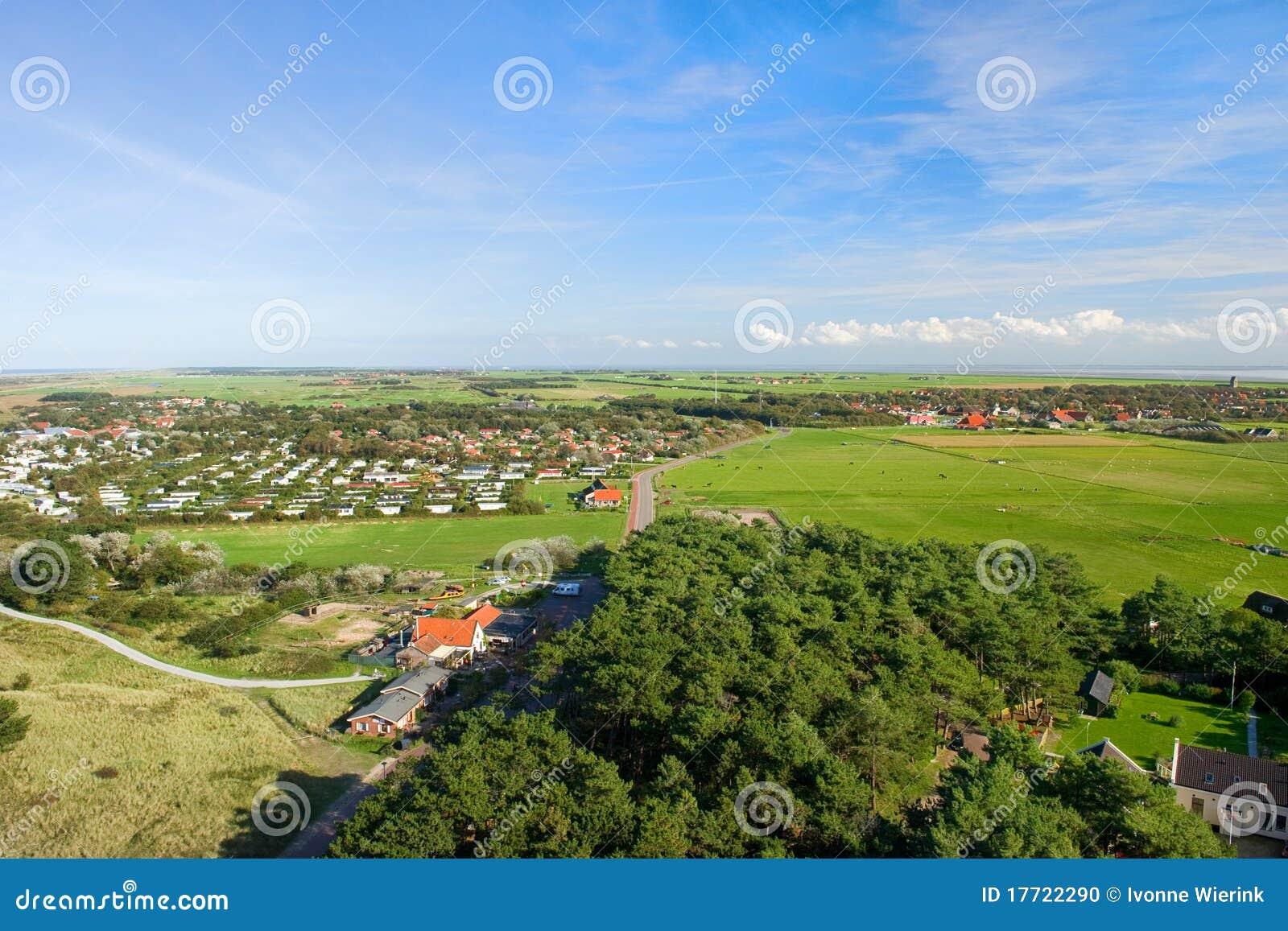 Landschaft von der holländischen Wadden-Insel