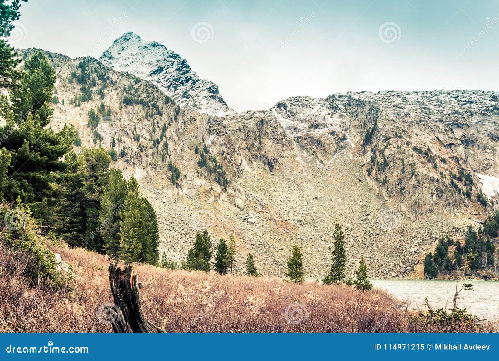 Landschaft von Gebirgstälern und -klippen