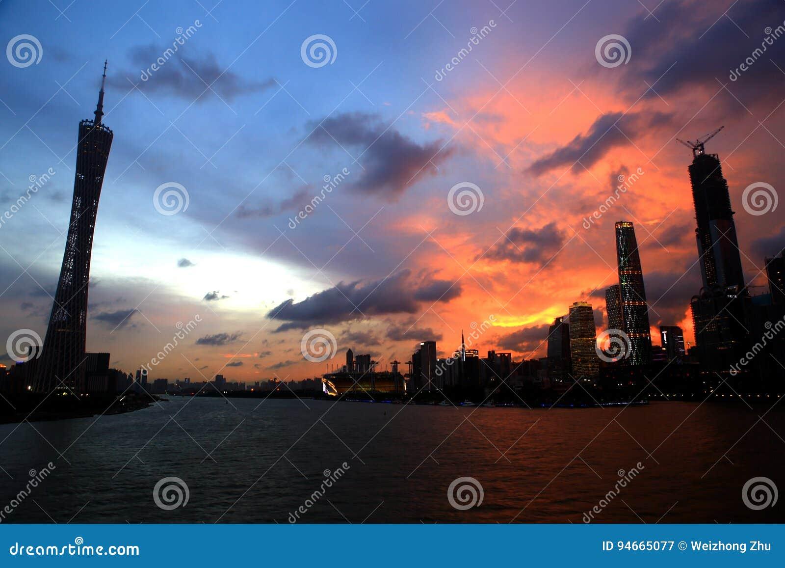 Landschaft von Guangzhou-Turm