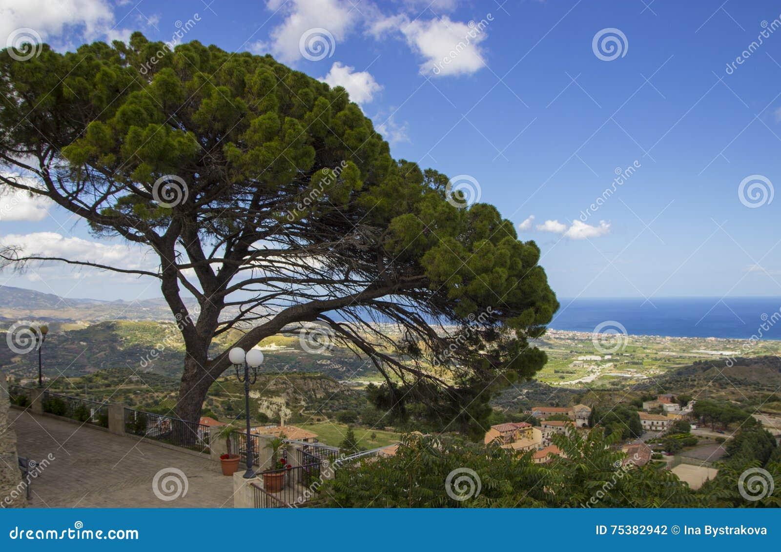 Landschaft von Süd-Italien, Kalabrien, Gerace