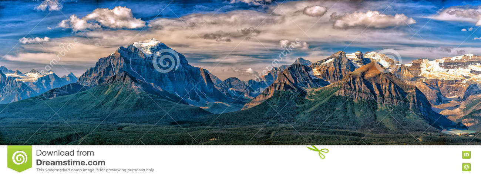 Landschaftsansicht Kanadas Rocky Mountains Panorama