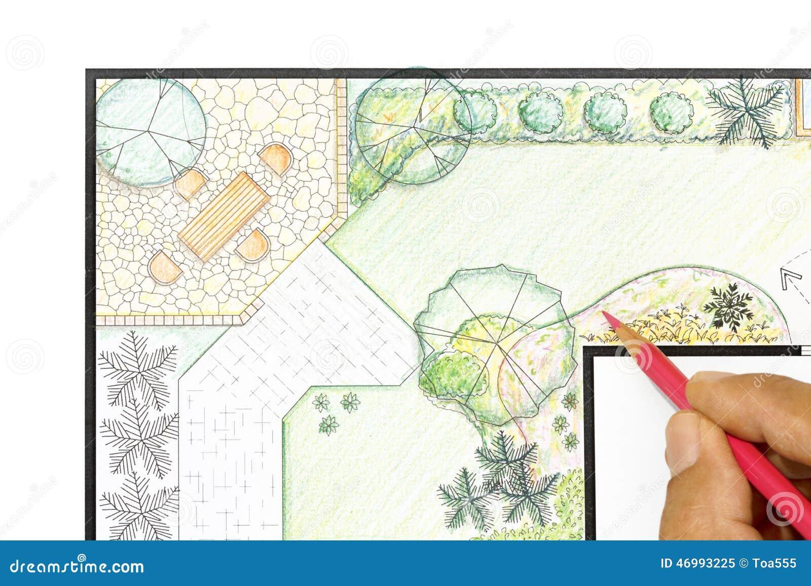 Plan/Landschaft Und Garten-Auslegung Lizenzfreie Stockfotografie ...