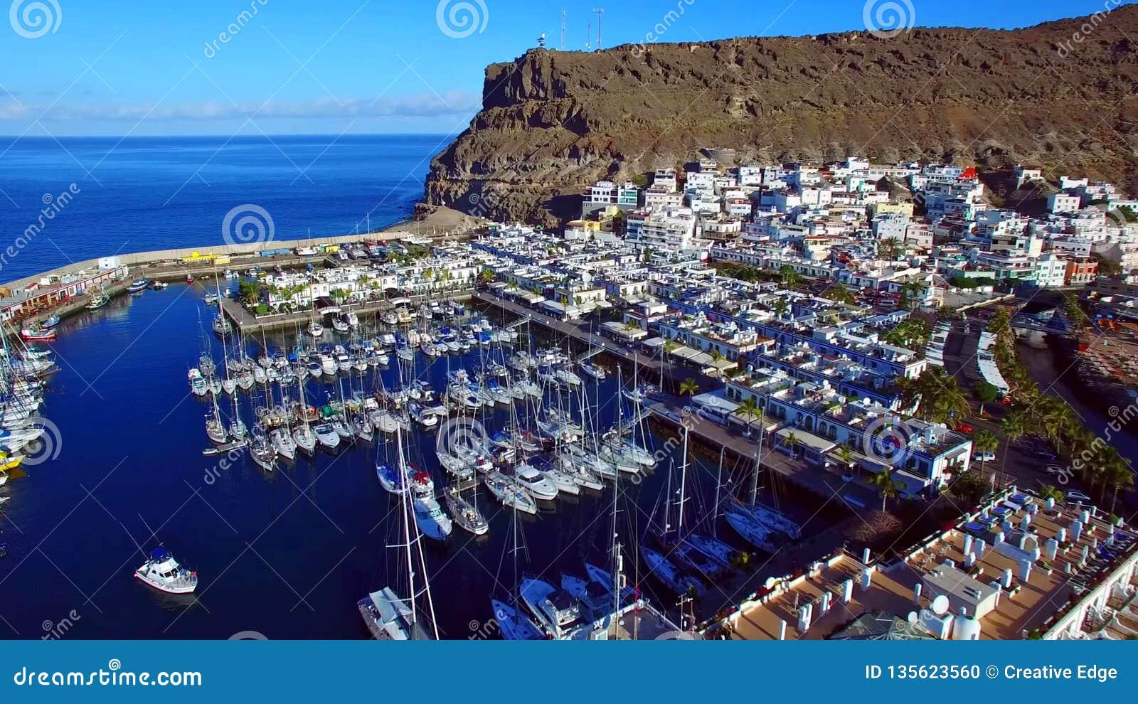 Landschap en mening van mooi Gran Canaria bij Canarische Eilanden, Spanje